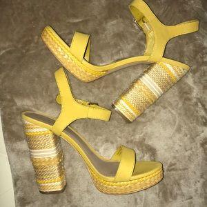Aldo gorgeous yellow heels